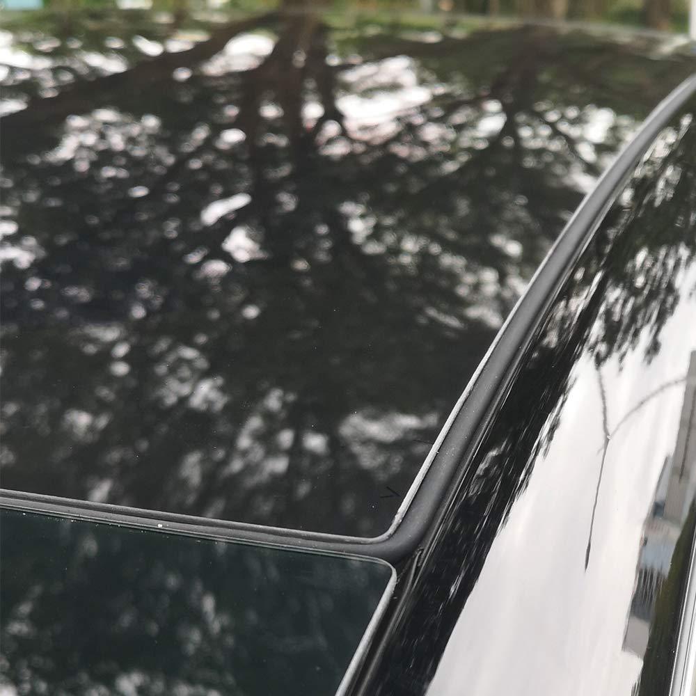Nrpfell for Tesla Model 3 Parabrezza e Tetto Antivento Abbassamento Rumore Riduzione Smorzamento Tettuccio Apribile Guarnizione Silenziosa Kit Guarnizione Siliconica-2a Generazione