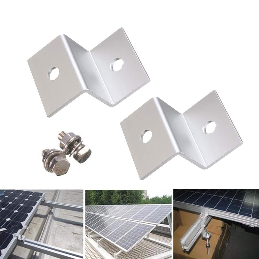 OUNONA Z Bracket for Roof Mounting with Split 4/piece Solar Panel with Nuts /& Bolts for Roof Rv Roof Outdoor Wall and other roofs