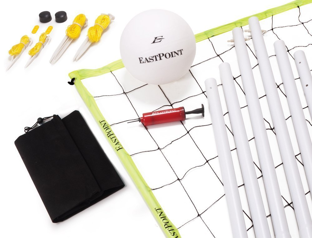 Volleyball Set, All-in-One Kit, Includes Everything for a Fun Game of Backyard Volleyball, with Sturdy Carry Bag (by EastPoint)