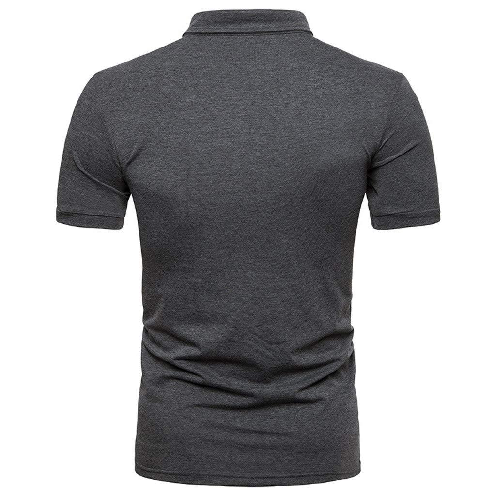 Polo para Hombre Manga Cortas Bordado Contrast Collar Camiseta ...