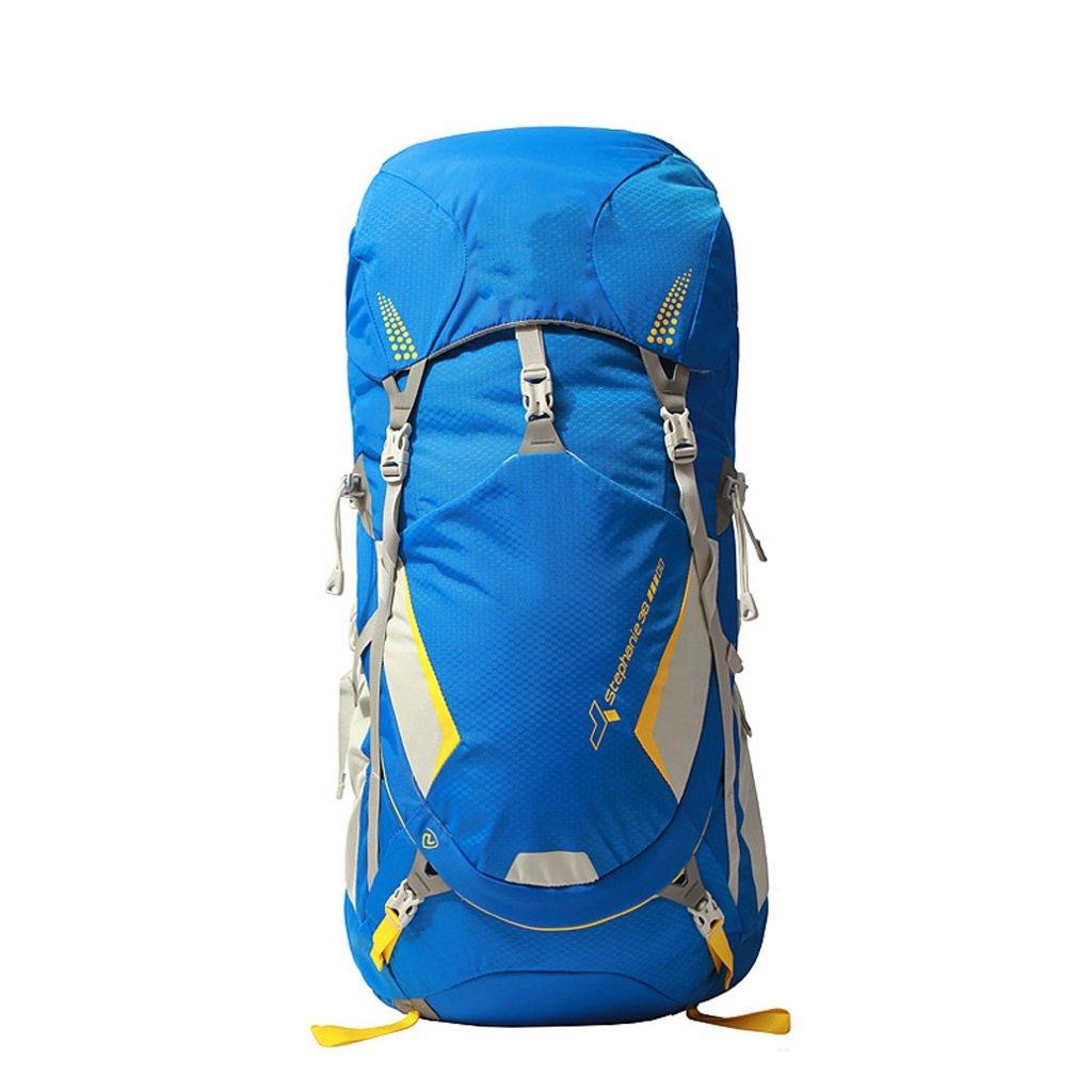 毎日の家 通気性軽量アウトドアバックパック38L登山リュックバッグトレッキングバッグ (色 : 青) B07QGSCQWT 青