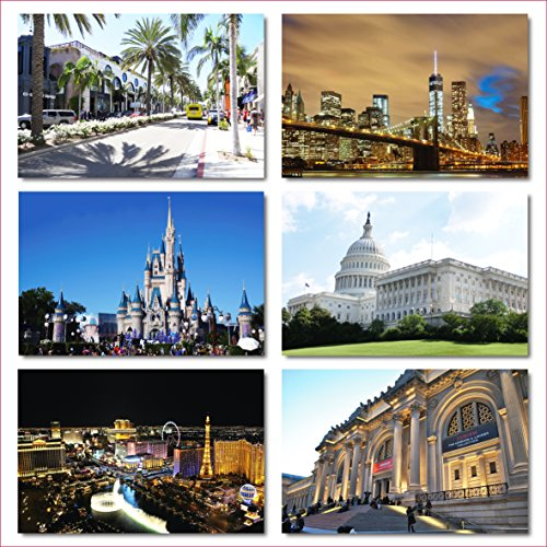 US National Monuments postcards pack - Set of 25 individual postcards featuring America's most famous national monuments and man made landmarks Photo #5