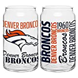 Denver Broncos Spirit Glass Can