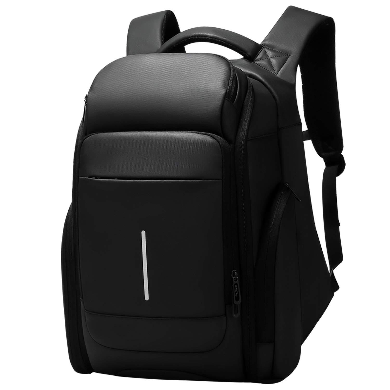 Men's Business Backpack, Fashion Knapsack, Casual Large Capacity Travel Bag Computer Bag Black