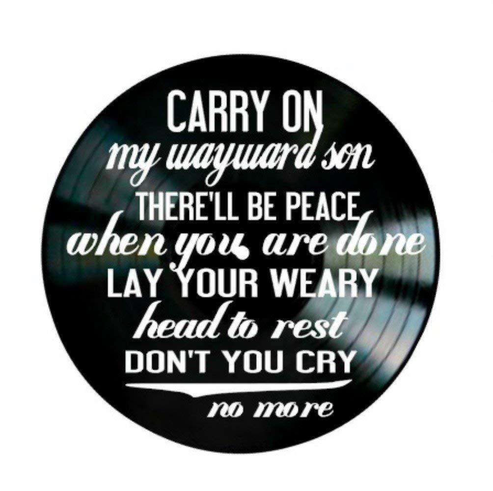 Wayward Son song lyrics by Kansas on a Vinyl Record Album Wall Art