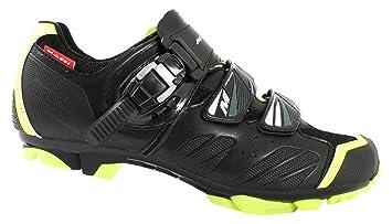 Massi Akkron Neon Zapatillas, Hombre, Negro/Amarillo, 38