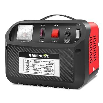 Greencut CRB300 - Cargador de batería multifunción, 12V / 24V ...
