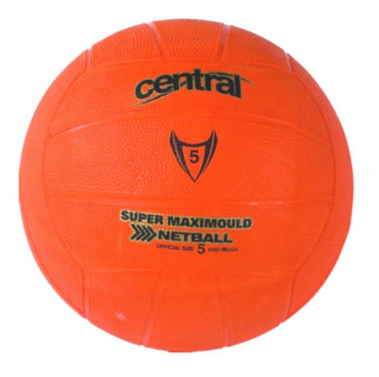 Central School & Club Super Maxi-Mould Rubber Training Netball Orange Sz 3-5