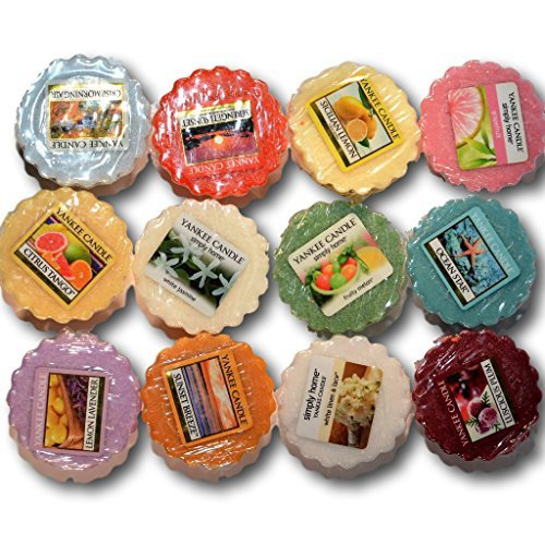 Yankee Candle Tarts Wax Melts - Spring & Summer Collection Sampler - Box of twelve (12) individually wrapped scents with no duplicates. Random assortment.