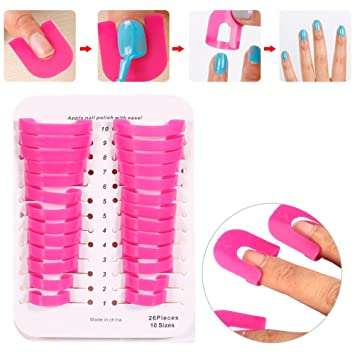 Amazon.com : Nail Art Polish Shield Protector Anti-overflow Manicure ...