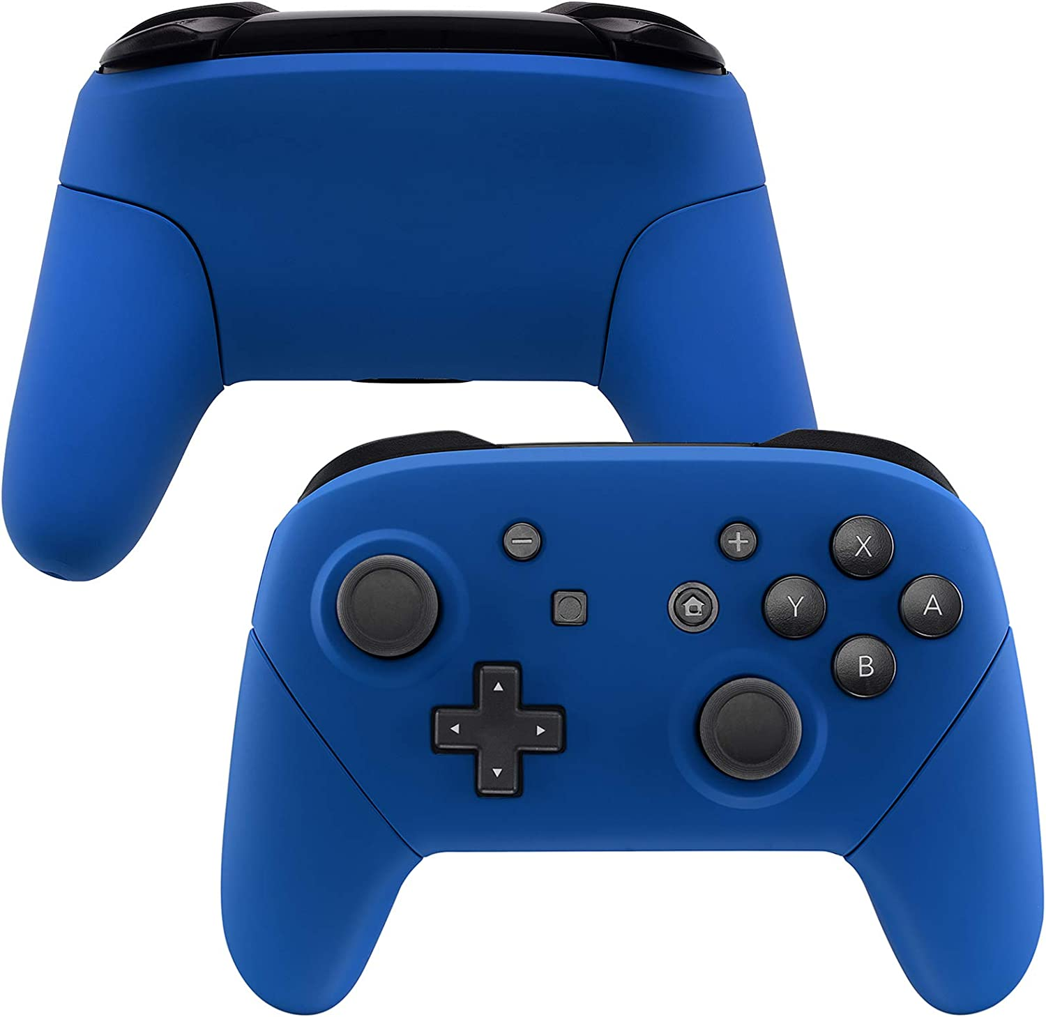 eXtremeRate Blue Faceplate Backplate Handles for Nintendo Switch Pro Controller, Soft Touch DIY Replacement Grip Housing Shell Cover for Nintendo Switch Pro - Controller NOT Included: Computers & Accessories