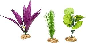 Petco Brand - Imagitarium Foreground Multi-Pack Silk Aquarium Plants, Small/Medium, Assorted