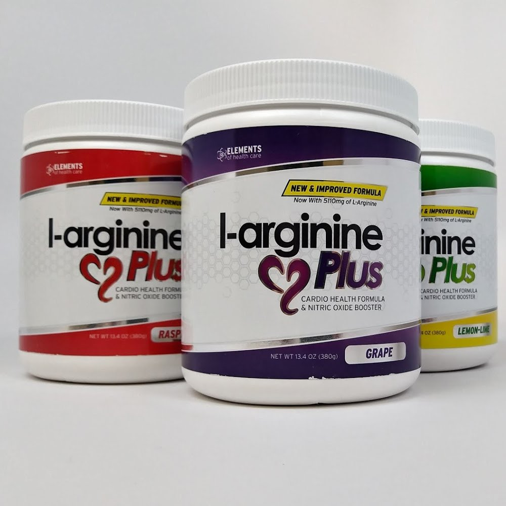 #1 L-Arginine Plus - Multi Flavor 3-Pack - for Better Blood Pressure, Cholesterol, Energy, Blood Flow, Muscle Development & More - #1 L-arginine Supplement - Get 1 Bottle of Each Flavor by Elements of Health Care (Image #1)