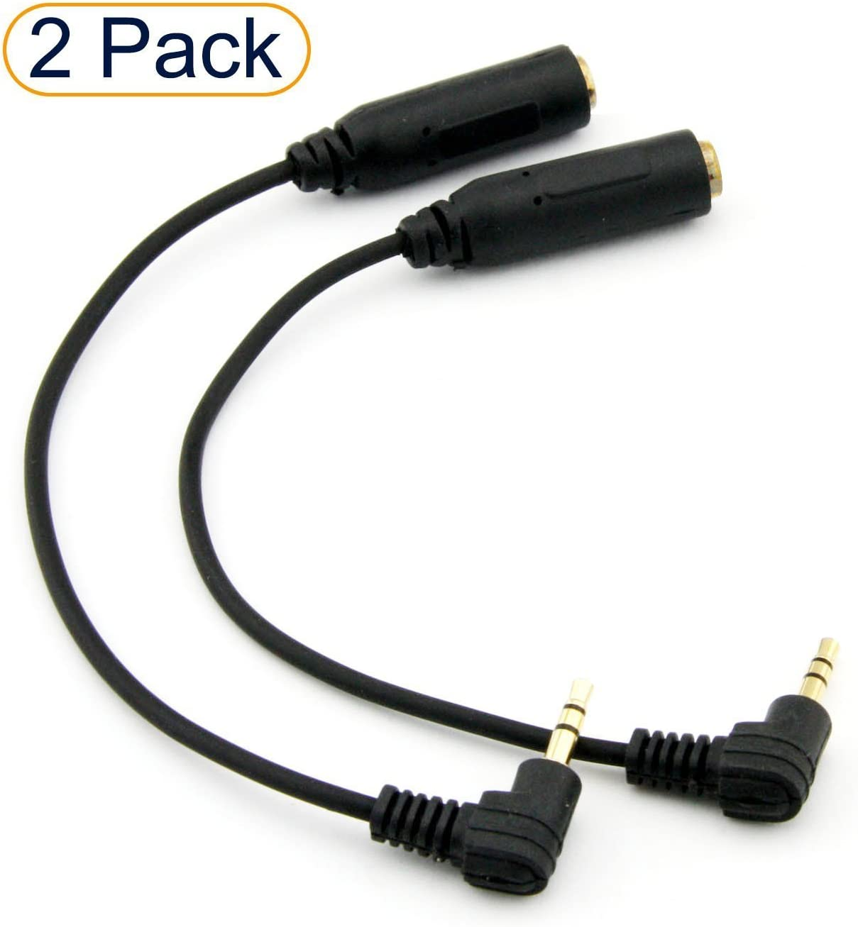 2.5mm Male to 3.5mm Female M//F Stereo Headphone Headset Adapter Converter