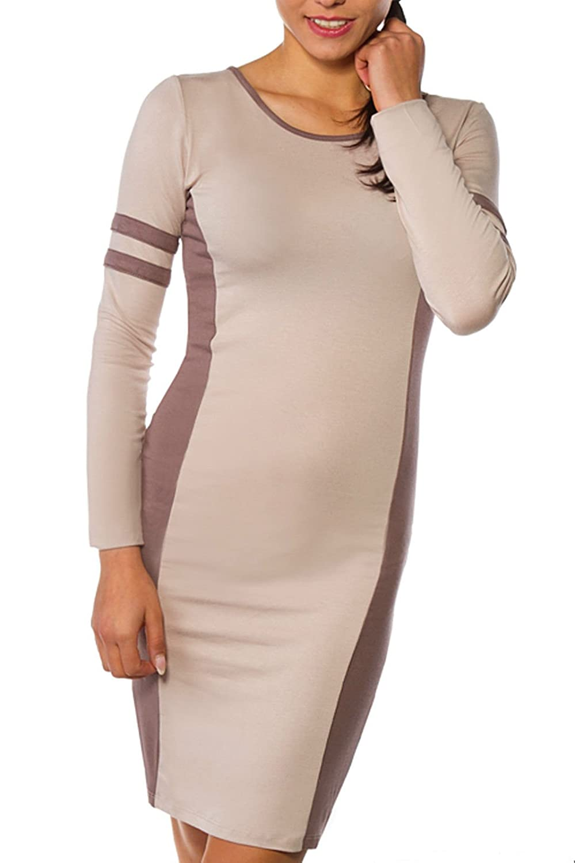 Fancy That Clothing Damen Top Tunika Minikleid Sexy Two Tone Farbe modische stilvolle Effekt abnimmt 36 38 40