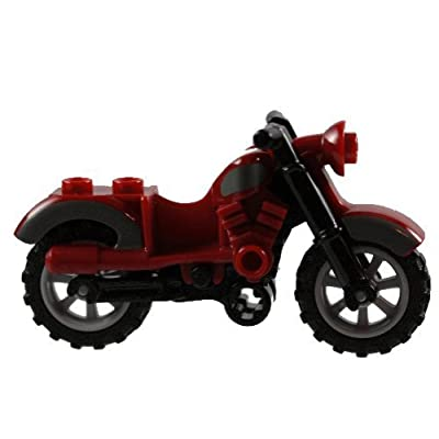 LEGO Motorcycle Dark Red - Harley: Toys & Games
