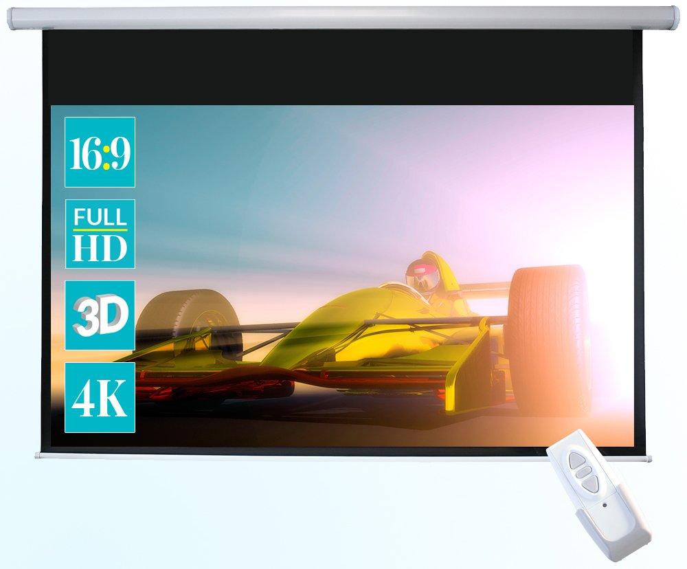 ivolum schermo motorizzato 240 x 240cm | Formato 1:1 | schermo elettrico utilizzabile per home cinema o business | gestione comoda con telecomando incluso 3780001