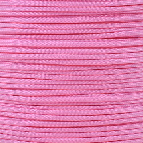 Ft Hanks (30 Meters) of 550lb Para Cord 7 Strand 4mm Tactical Parachute Rope in Assorted Colors (Pink Caribbean House)