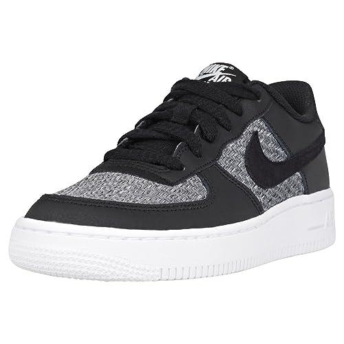 3db3de2c472d9 Nike 820438-018 - Zapatillas de Gimnasia de Piel para Niño Negro Negro Azul  Claro  Amazon.es  Zapatos y complementos