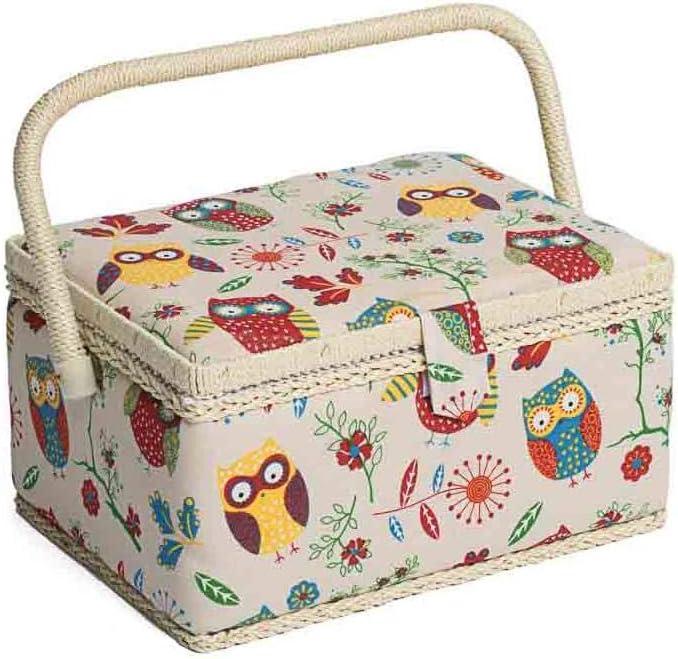 Diseño del Búho Caja de Costura en Naturales Medio (18.5 x 26 x 15cm): Amazon.es: Juguetes y juegos