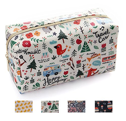 OMG Toiletry Bag Portable Small Handy Waterproof Travel Cosmetic Bag Pencil Pen Multifunction Purse for Women Girls (Fox)