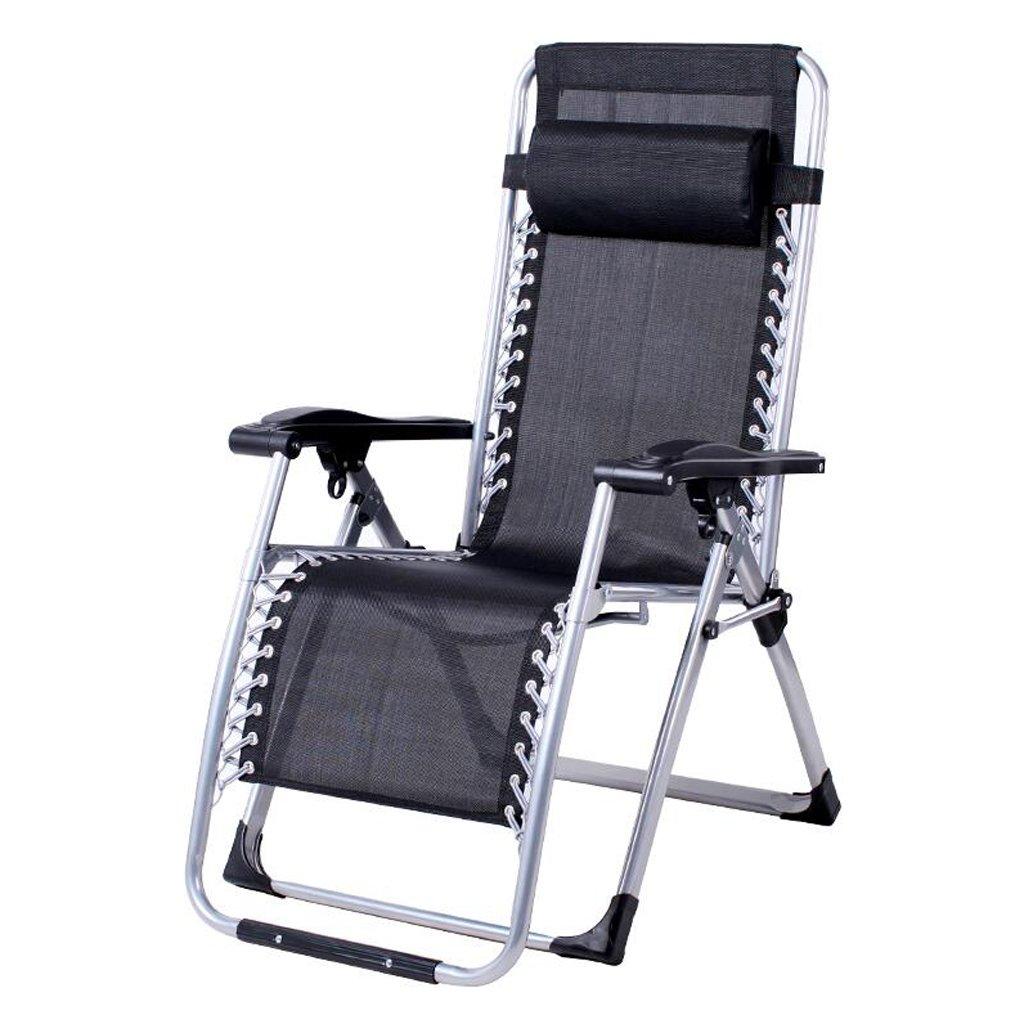 Xuan - Worth Having Schwarz Kein Kissen Klappstuhl Mittagspause Lounge Chair Schlafsessel Freizeit Faule Sofa Stühle Für Ältere