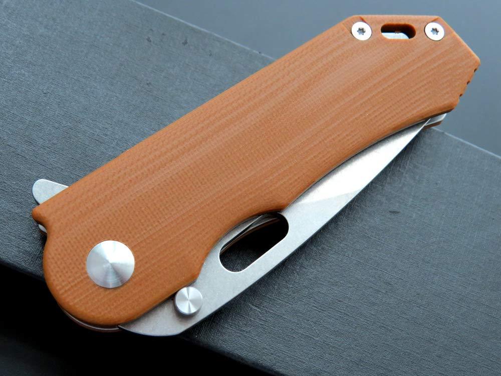 Eafengrow Pocket Knives D2 Blade G10 Handle Folding Camping Knife Mini Outdoor Pocket Knife Survival Tool (EF32-brown) by Eafengrow (Image #6)