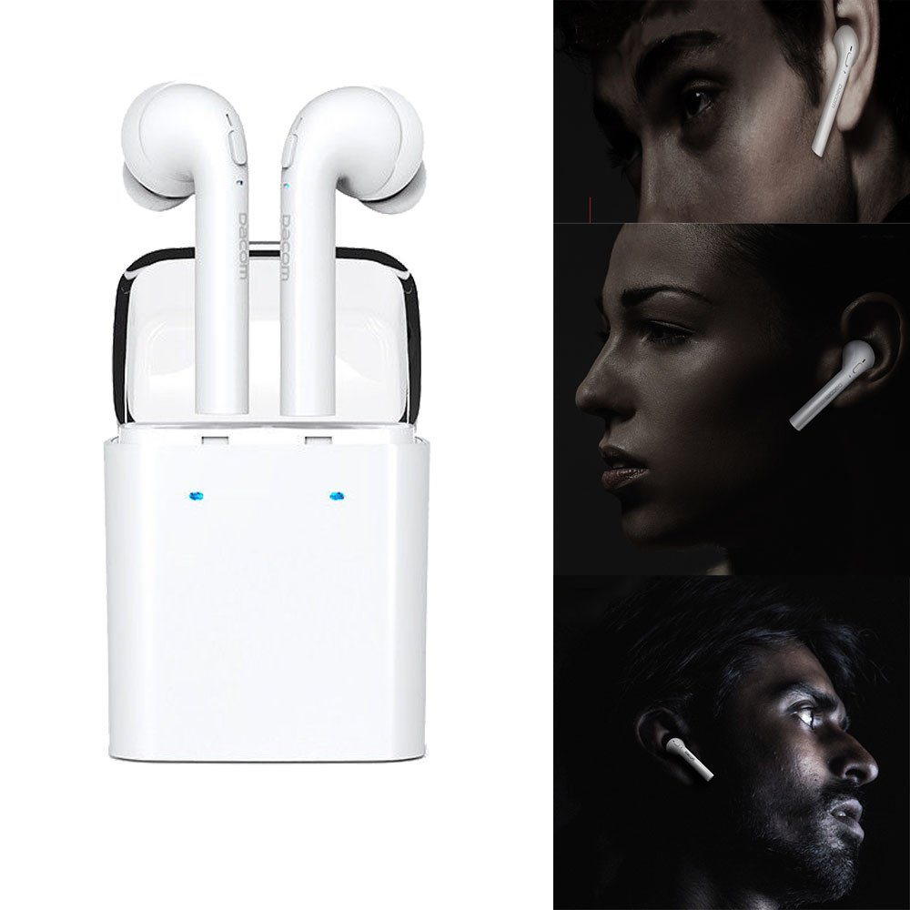 Longra Wireless Bluetooth In-ear Earphones Stereo Headset For iphone 7 Airpods Android (Blanco): Amazon.es: Instrumentos musicales