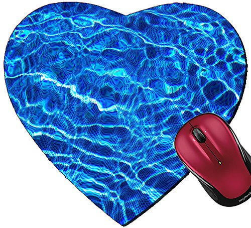 Liili Mousepad Heart Shaped Mouse Pads/Mat IMAGE ID: 16167449 effects and water reflections in a swimming pool picture in blue background suitable - Reflection Effect Photo