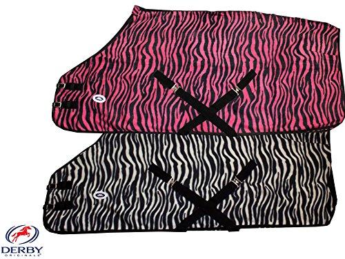 Derby Originals Horse Tack Zebra Print Fleece Sheet/ Blanket Liner- White 75
