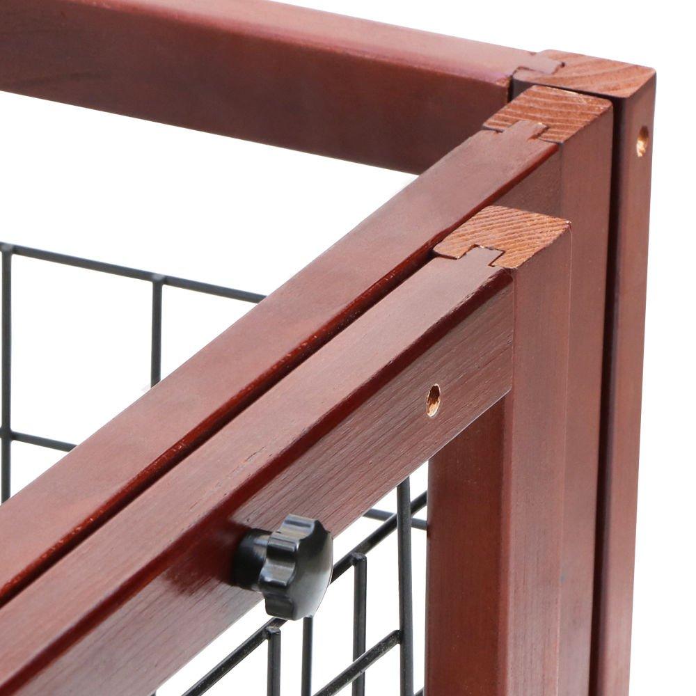 Tek Widget Adjustable Free Standing Indoor Dog Wood Gate/Fence by Tek Widget (Image #4)