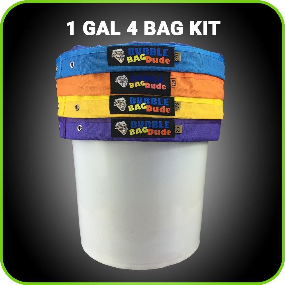 bubblebagdude 1Liter 4Bag Set–Herbal Ice Essence Extractor Kit–Kommt mit Drücken Bildschirm und Aufbewahrungstasche