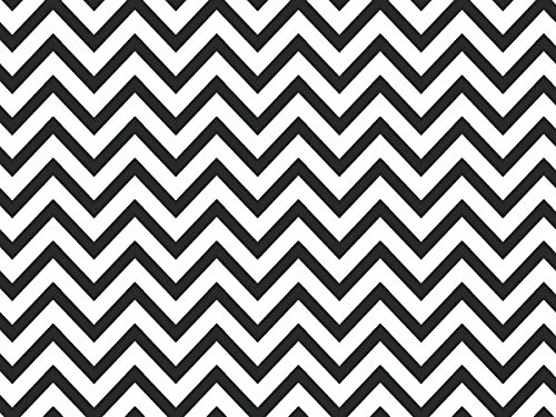 Black Chevron Stripe Recycled 240~20''x30'' Sheets (240 Sheets) - WRAPS-P1342 by Miller Supply Inc
