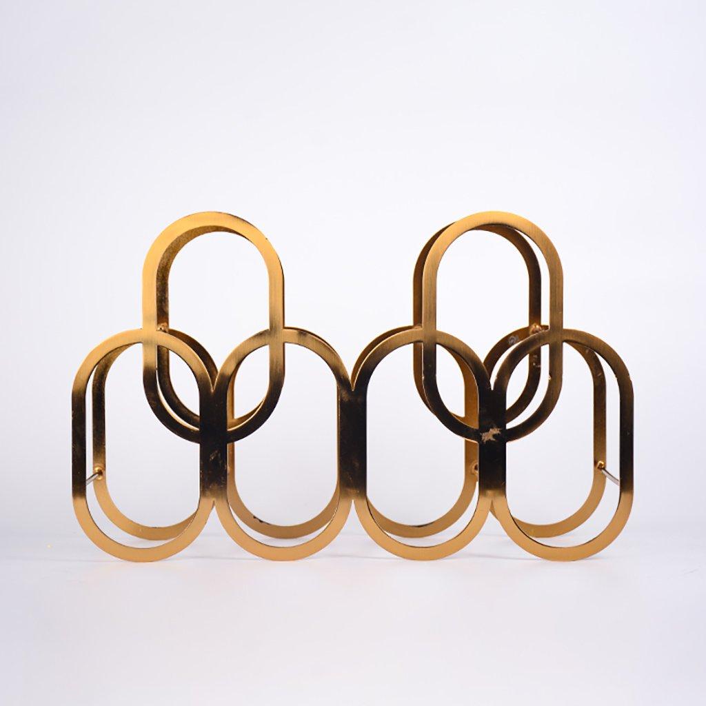 チェーンのワインラック現代的なミニマルな北欧のステンレス鋼の金属創造的なアウディワインラックの装飾的な装飾品のモデルルームのワインキャビネットの装飾 (色 : A) B07DF8BT1J A A