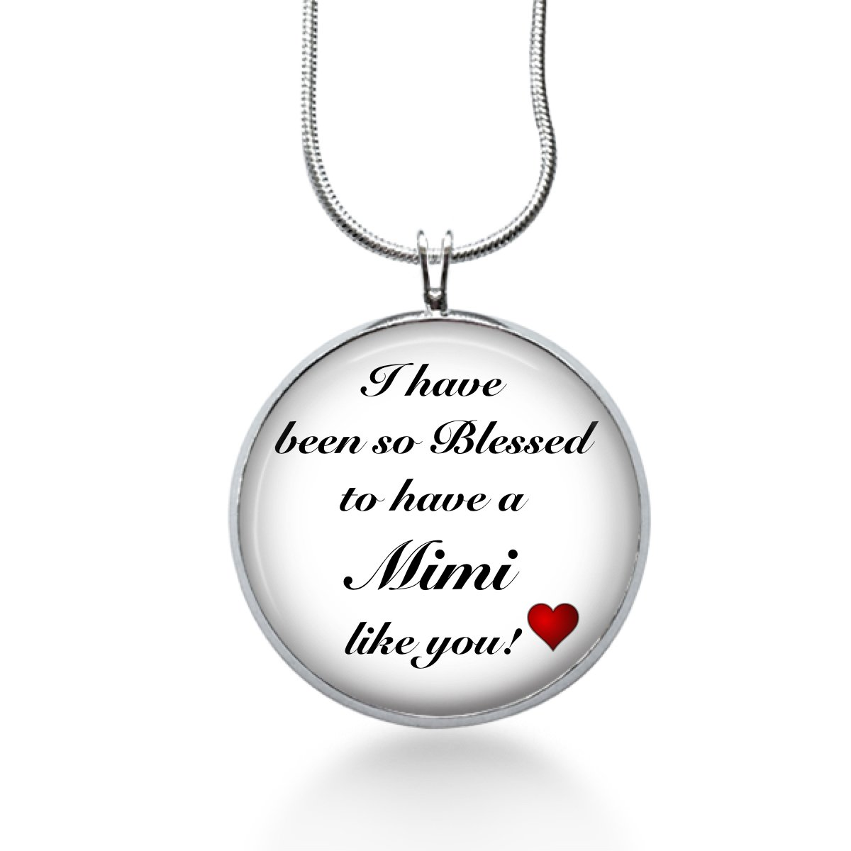 MIMI Necklace - Family Pendant, Saying Charm, Quote Gifts for Grandma - Handmade Fun Jewelry