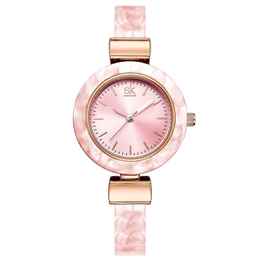 SK Elegant Women Watches Diamond Face Crystal Luxury Female Watch Relogio Feminino (K0070-Pink)