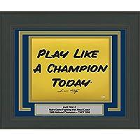$249 » Framed Autographed/Signed Lou Holtz Notre Dame Irish Play Like A Champion Today 16x20 Football Photo JSA COA