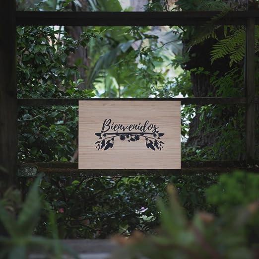 Cartel Bienvenidos Floral - Una Casa En El Árbol: Amazon.es ...