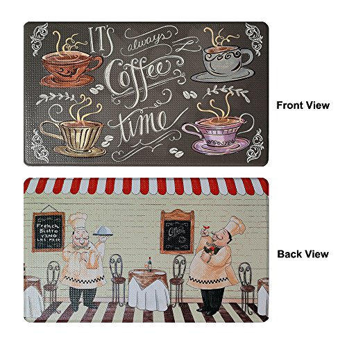 Art3d Premium Double-Sided Anti-Fatigue Chef Rug, Anti-Fatigue Comfort Mat. Multi-Purpose Decorative Standing Mat for the Kitchen, Bathroom, Laundry Room or Office, 18'' X 30'' by Art3d (Image #5)