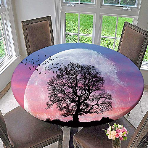 PINAFORE HOME Elasticized Table Cover Lone Tree with