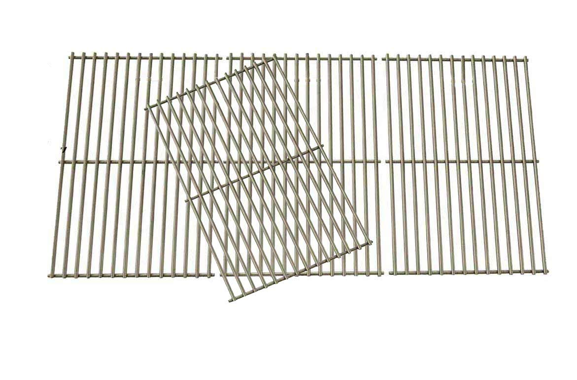 Grill Parts Gallery Stainless Steel Coking Grates for Select Brinkmann 810-1525-0, 810-3660-S, 810-3661-F, 810-6631-F, 810-6680-S, 810-7541-B, 810-7541-W, 810-8445-F, 810-8445-N Gas Models, Set of 4 by Grill Parts Gallery