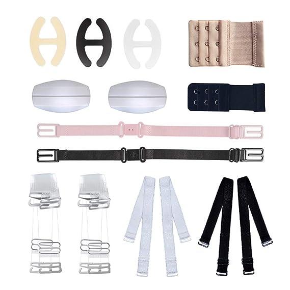 Sujetador de la correa del sujetador, Sujetador Conjunto de 12 accesorios para mujer con sujetador