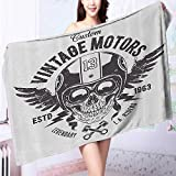 Auraise Home absorbent bath towel Skull and Blooms Catholic Popular Ceremy Celebrating Artistic Machine washable L39.4 x W19.7 INCH