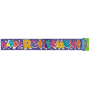 Amazon.com: 12ft Foil Happy Retirement Banner: Kitchen & Dining
