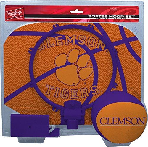 Rawlings NCAA Clemson Tigers Kids Slam Dunk Hoop Set, Orange, - Basketball Clemson University