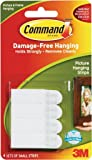 3M Picture Hanging Strips, White, Small -4 Sets per Pack