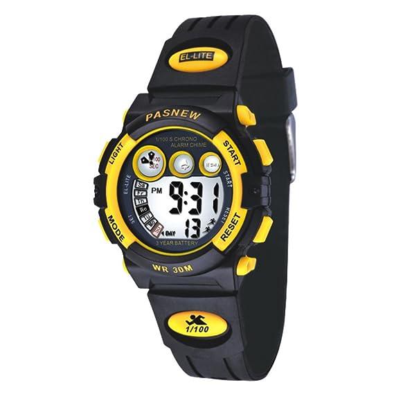 Forma electrónica para niños estudiantes masculinos y femeninos reloj deportivo digital-A: Amazon.es: Relojes