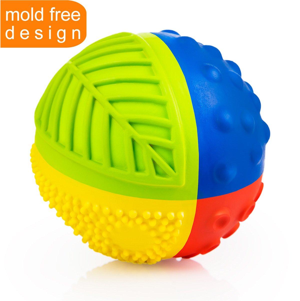 100% Pure Natural Rubber Sensory Ball Rainbow (3