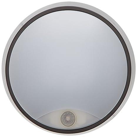 Tibelec 342220 – ojo de buey LED redondo con detector de movimiento, plástico, 10