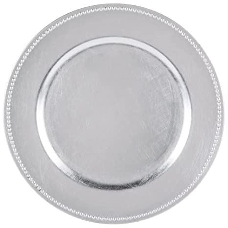 Amazon.com | SPRINGROSE Silver Charger Plates (set of 10) | Buy in ...